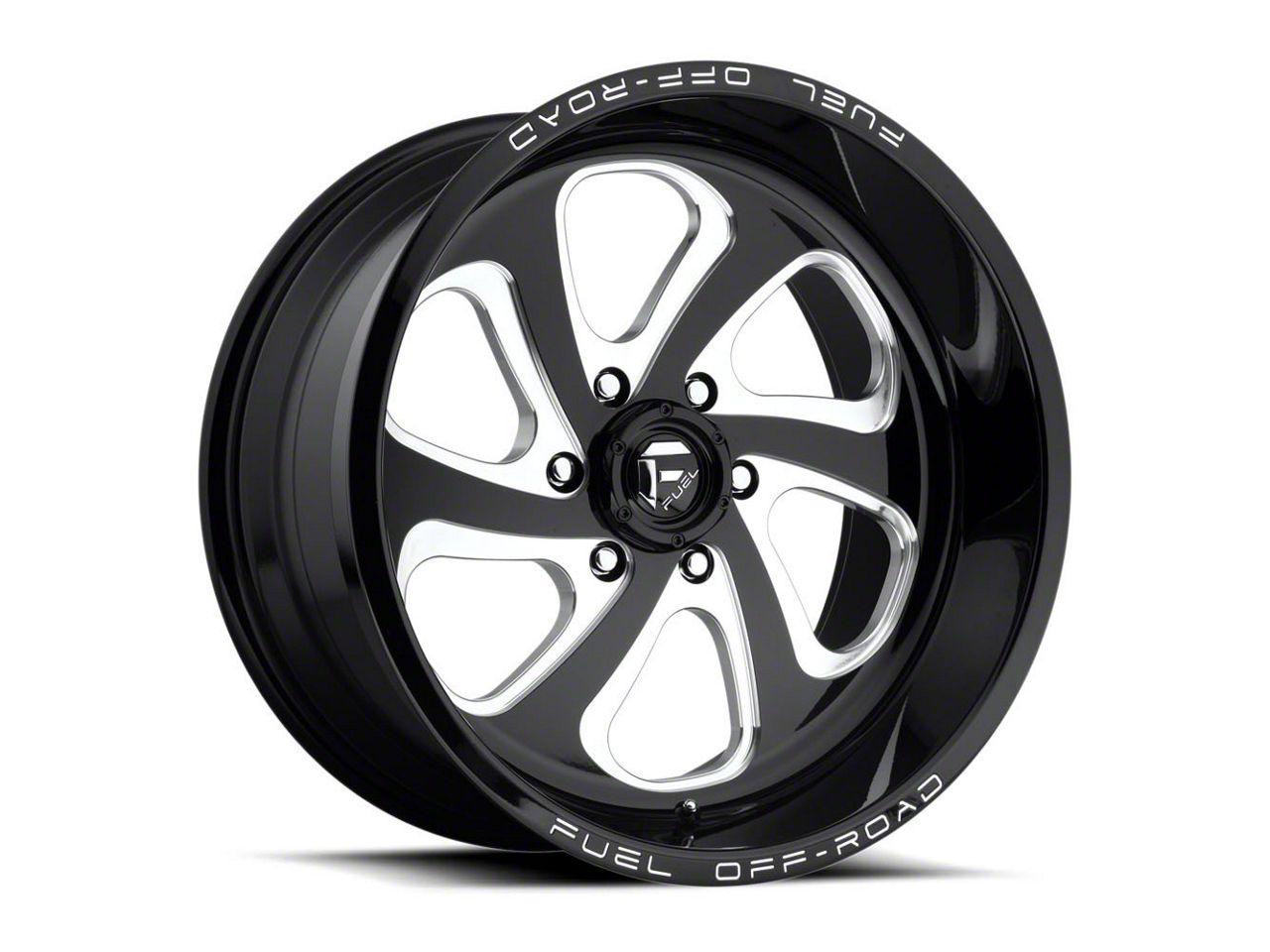 Fuel Wheels Flow Gloss Black Milled 6-Lug Wheel - 20x12 (04-18 F-150)
