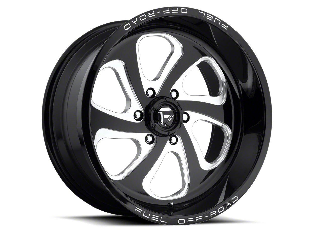 Fuel Wheels Flow Gloss Black Milled 6-Lug Wheel - 22x10 (04-18 F-150)
