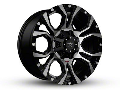RBP 64R Widow Black Machined 6-Lug Wheel - 18x9 (04-18 F-150)