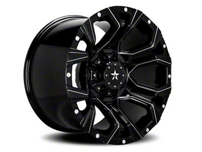 RBP 64R Widow Gloss Black w/ Machined Grooves 6-Lug Wheel - 18x9 (04-18 F-150)