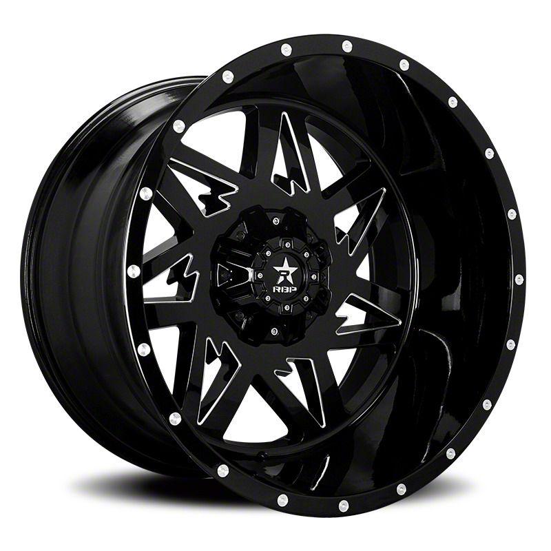 RBP 71R Avenger Gloss Black w/ Machined Grooves 6-Lug Wheel - 20x10 (04-19 F-150)