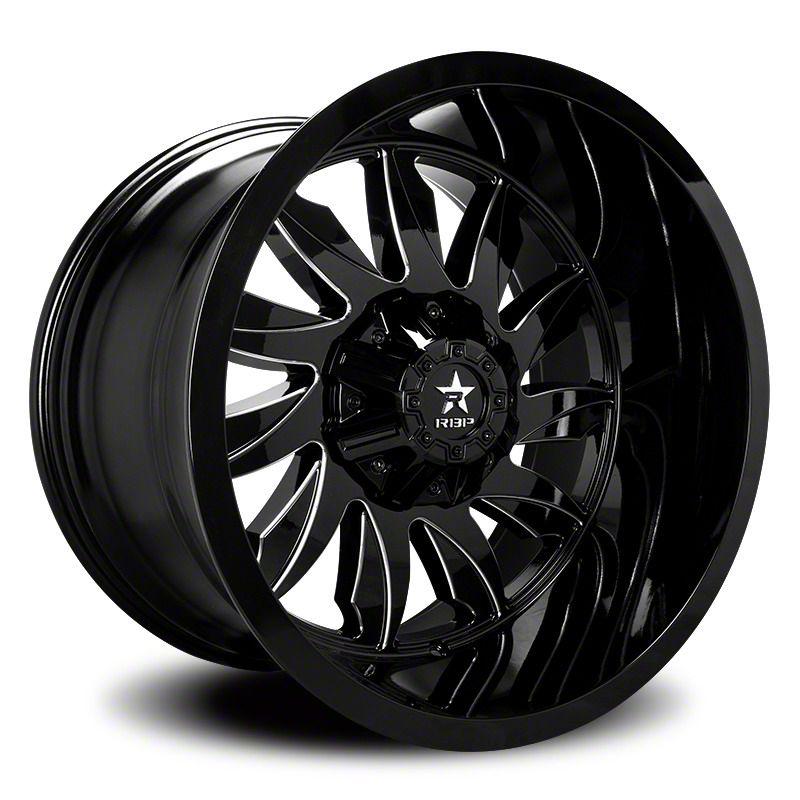RBP 74R Silencer Gloss Black w/ Machined Grooves 6-Lug Wheel - 20x10 (04-19 F-150)