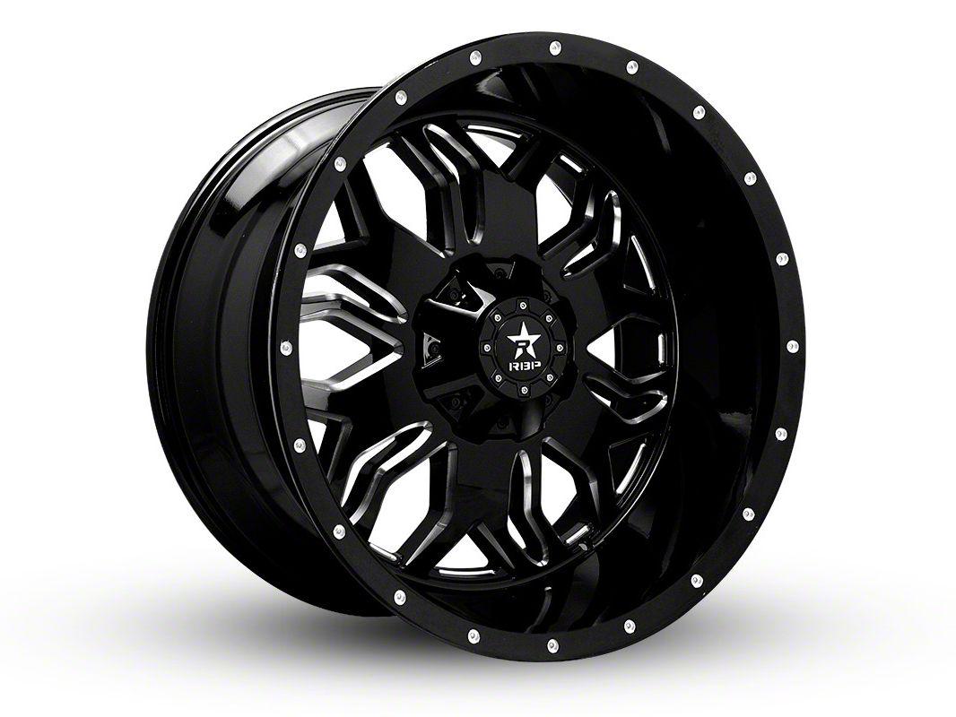 RBP 87R Blade Gloss Black w/ Machined Grooves 6-Lug Wheel - 24x12 (04-18 F-150)