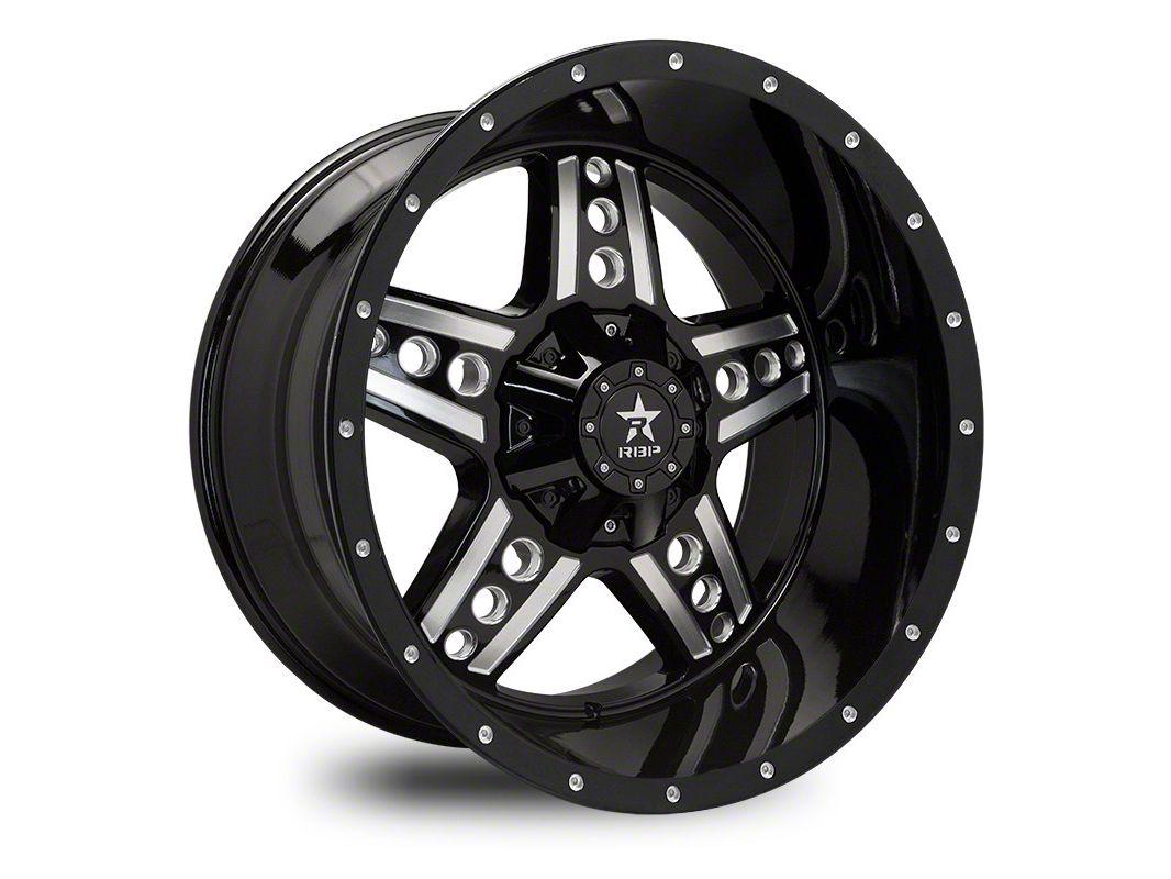 RBP 90R Colt Gloss Black w/ Machined Grooves 6-Lug Wheel - 22x12 (04-19 F-150)