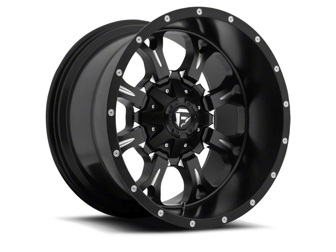Fuel Wheels Krank Black Milled 6-Lug Wheel - 20x12 (04-18 F-150)