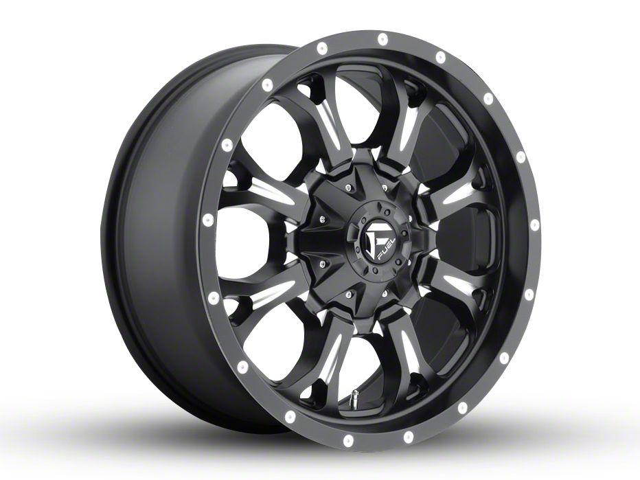 Fuel Wheels Krank Black Milled 6-Lug Wheel - 20x9 (04-18 F-150)