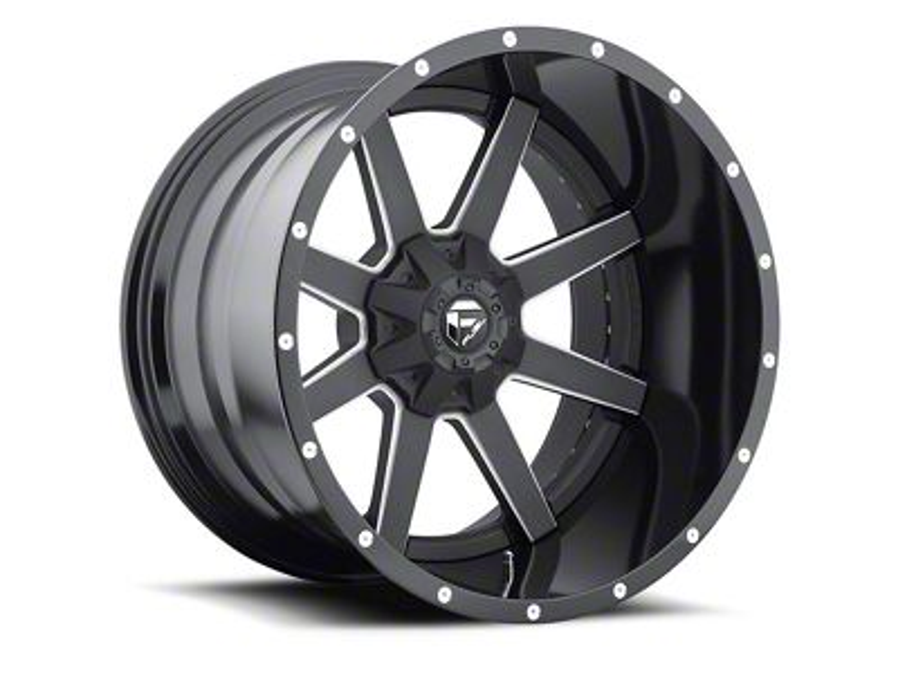 Fuel Wheels Maverick 2-Piece Black Milled 6-Lug Wheel - 20x12 (04-19 F-150)