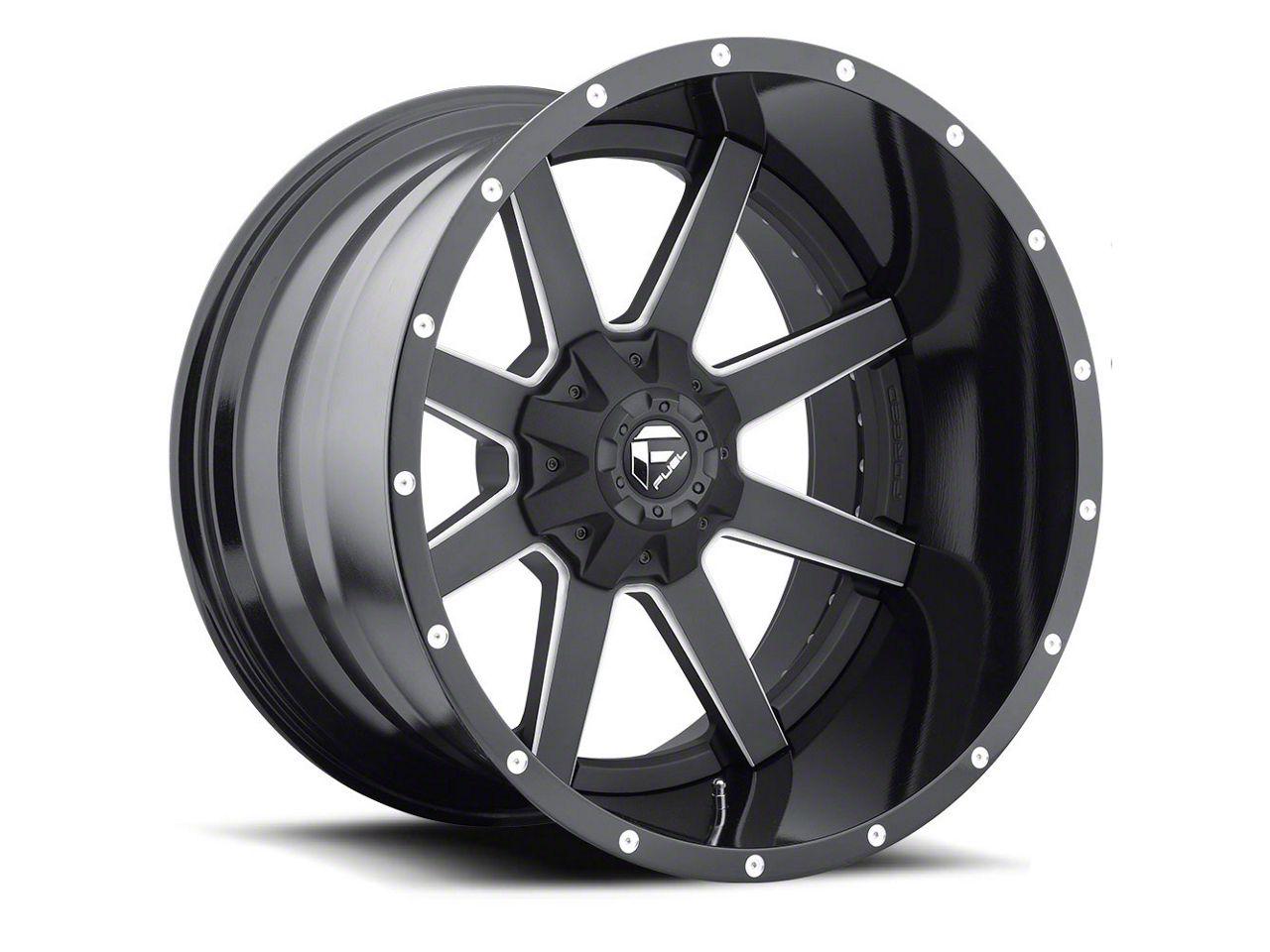 Fuel Wheels Maverick 2-Piece Black Milled 6-Lug Wheel - 24x14 (04-19 F-150)