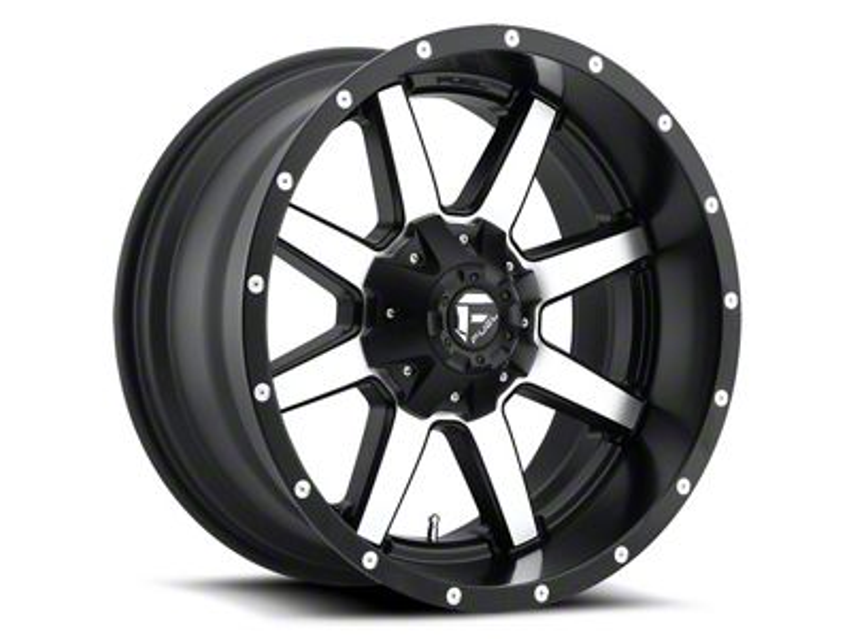 Fuel Wheels Maverick Black Machined 6-Lug Wheel - 18x12 (04-18 F-150)