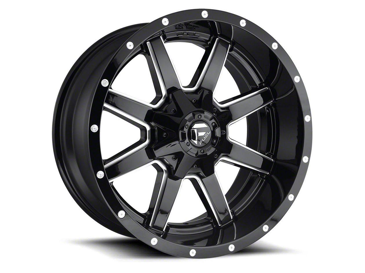 Fuel Wheels Maverick Gloss Black Milled 6-Lug Wheel - 22x12 (04-18 F-150)