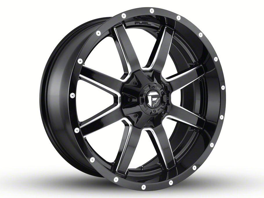 Fuel Wheels Maverick Gloss Black Milled 6-Lug Wheel - 22x9.5 (04-18 F-150)