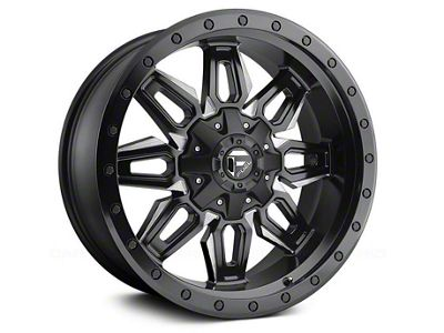 Fuel Wheels Neutron Matte Black Milled 6-Lug Wheel - 18x9 (04-18 F-150)