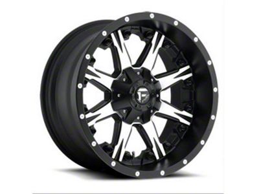Fuel Wheels NUTZ Black Machined 6-Lug Wheel - 22x12 (04-18 F-150)