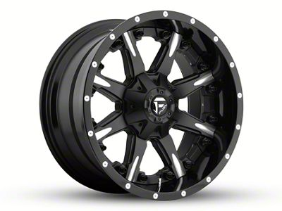 Fuel Wheels NUTZ Black Milled 6-Lug Wheel - 20x10 (04-19 F-150)