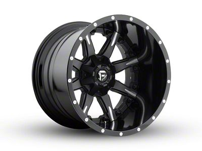 Fuel Wheels NUTZ Black Milled 6-Lug Wheel - 20x14 (04-18 F-150)
