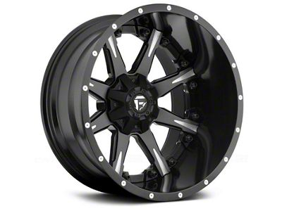 Fuel Wheels NUTZ Black Milled 6-Lug Wheel - 20x9 (04-19 F-150)