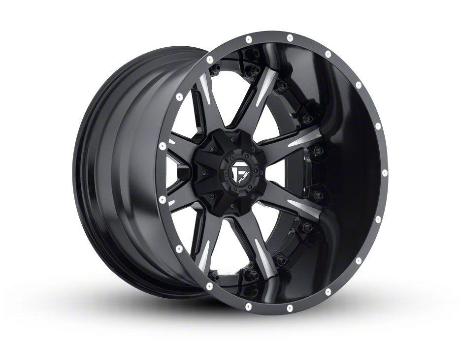 Fuel Wheels NUTZ Black Milled 6-Lug Wheel - 22x14 (04-19 F-150)