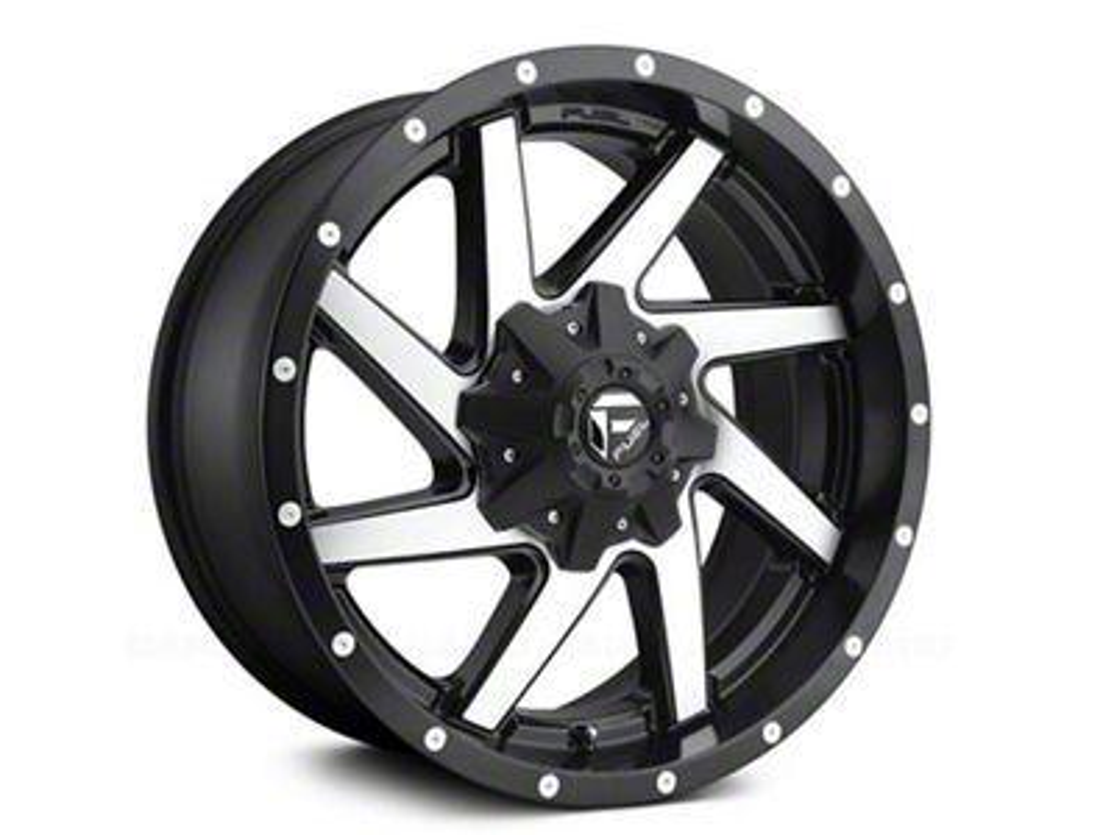 Fuel Wheels Renegade Black Machined 6-Lug Wheel - 20x10 (04-19 F-150)