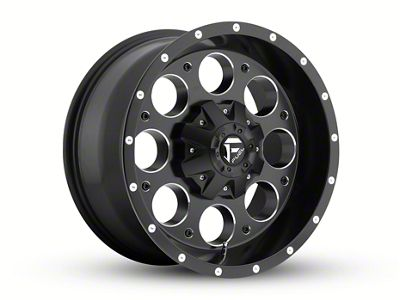 Fuel Wheels Revolver Black Milled 6-Lug Wheel - 18x9 (04-18 F-150)