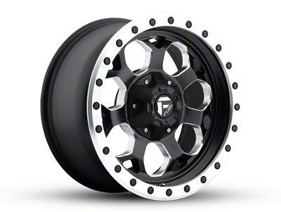 Fuel Wheels Savage Black Milled 6-Lug Wheel - 17x8.5 (04-18 F-150)