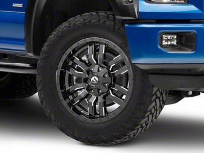 Fuel Wheels Sledge Gloss Black Milled 6-Lug Wheel - 20x9 (04-18 F-150)