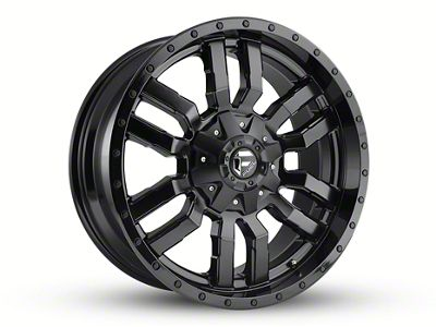 Fuel Wheels Sledge Gloss & Matte Black 6-Lug Wheel - 20x12 (04-18 F-150)