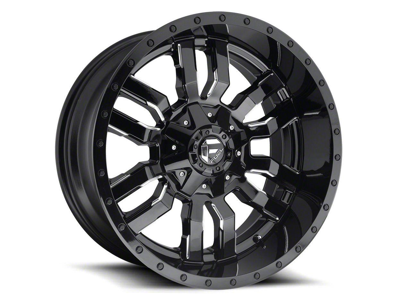Fuel Wheels Sledge Gloss & Matte Black 6-Lug Wheel - 22x12 (04-19 F-150)