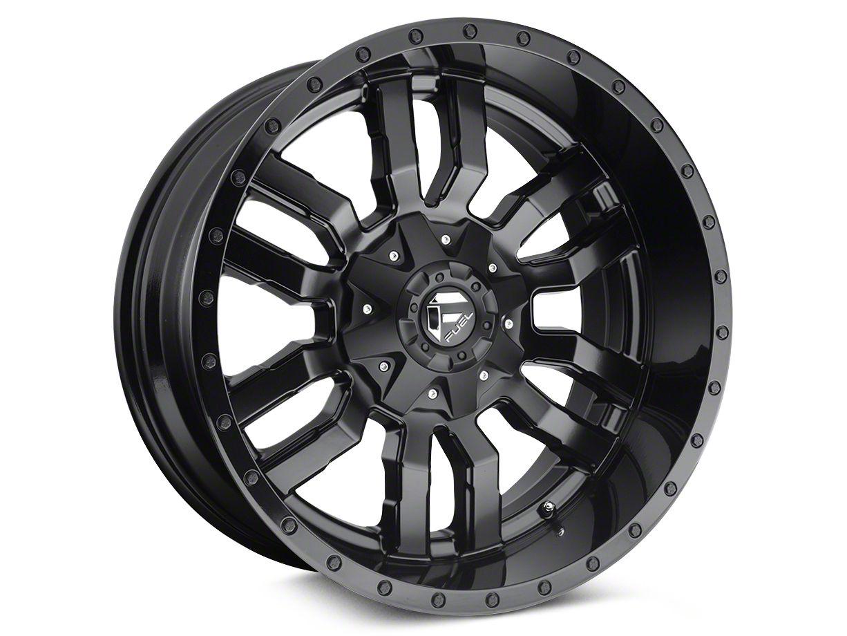 Fuel Wheels Sledge Gloss & Matte Black 6-Lug Wheel - 24x14 (04-19 F-150)