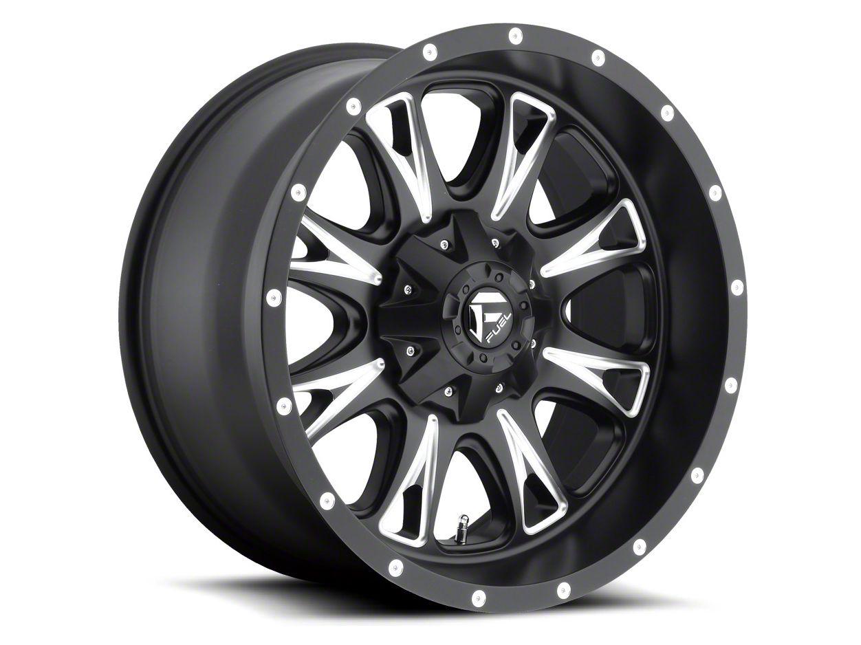 Fuel Wheels Throttle Black Milled 6-Lug Wheel - 22x14 (04-19 F-150)