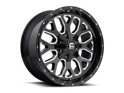 Fuel Wheels Titan Black Milled 6-Lug Wheel - 20x9 (04-18 F-150)