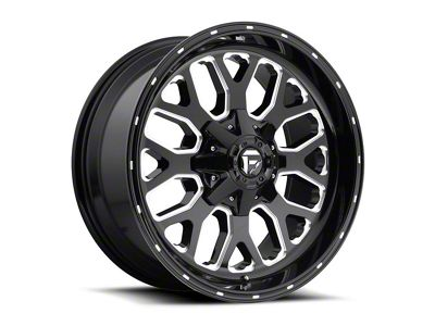 Fuel Wheels Titan Gloss Black Milled 6-Lug Wheel - 20x12 (04-18 F-150)
