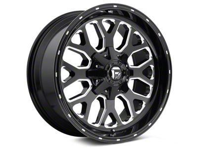Fuel Wheels Titan Gloss Black Milled 6-Lug Wheel - 22x10 (04-19 F-150)