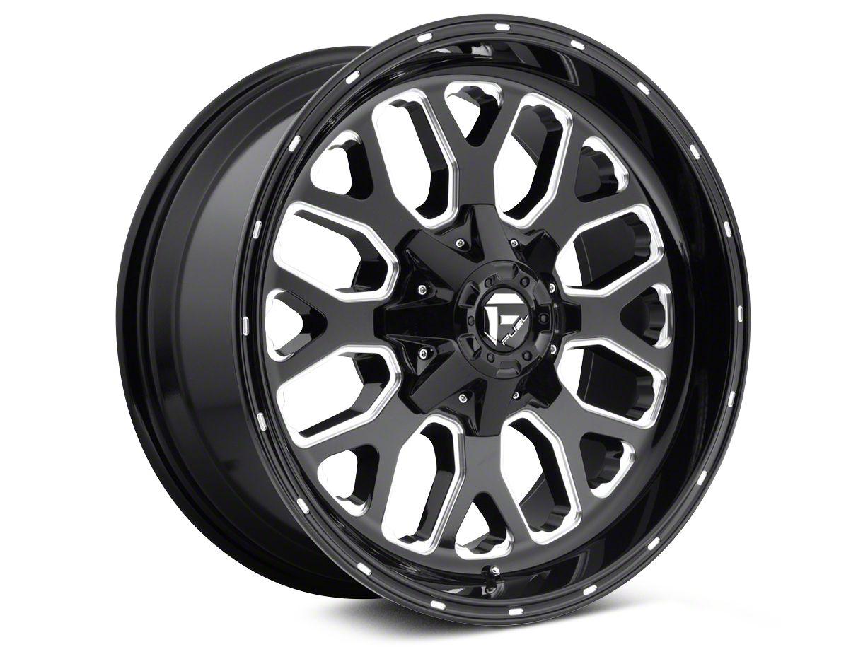 Fuel Wheels Titan Gloss Black Milled 6-Lug Wheel - 22x10 (04-18 F-150)