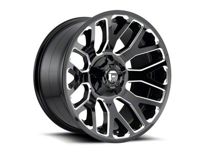 Fuel Wheels Titan II Gloss Black Milled 6-Lug Wheel - 20x10 (04-18 F-150)