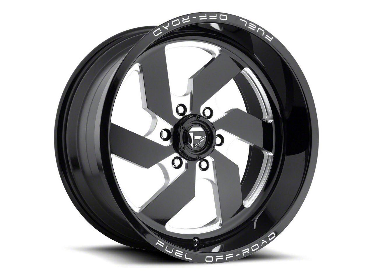 Fuel Wheels Turbo Black Milled 6-Lug Wheel - 20x10 (04-18 F-150)