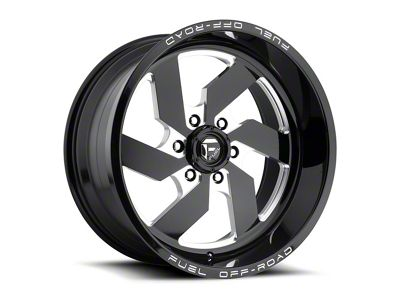 Fuel Wheels Turbo Gloss Black Milled 6-Lug Wheel - 17x9 (04-18 F-150)