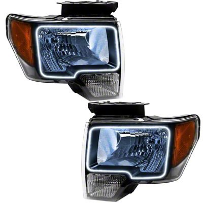 Oracle Chrome OE Style Headlights w/ LED Halos (09-14 F-150 w/o Factory HID)