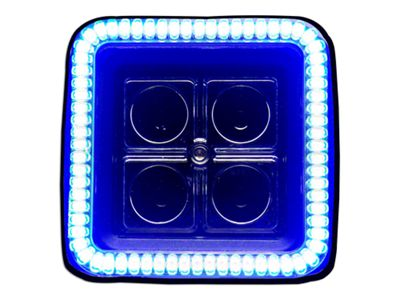 Oracle 3 in. Square Halo for Cube/Square Lights - Blue (97-18 F-150)