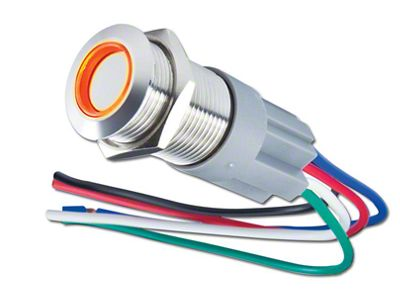 Oracle Pre-Wired Momentary Style Flush Mount LED Switch - Amber (97-19 F-150)