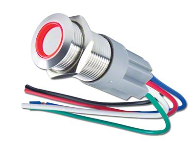 Oracle Pre-Wired Momentary Style Flush Mount LED Switch - Red (97-19 F-150)