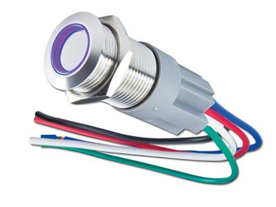 Oracle Pre-Wired Momentary Style Flush Mount LED Switch - UV/Purple (97-18 F-150)
