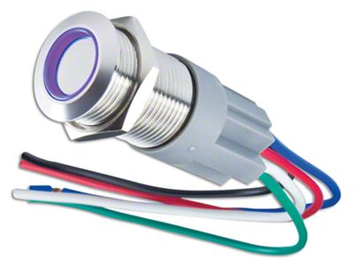 Oracle Pre-Wired On/Off Style Flush Mount LED Switch - UV/Purple (97-18 F-150)