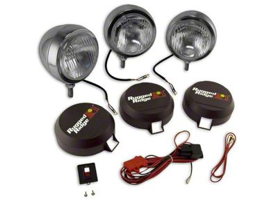 Rugged Ridge 5 in. Round HID Off-Road Fog Lights - Set of Three (97-19 F-150)
