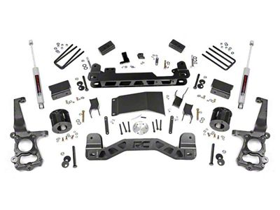 Rough Country 4 in. Suspension Lift Kit w/ Lifted N3 Struts (15-19 4WD F-150, Excluding Raptor)