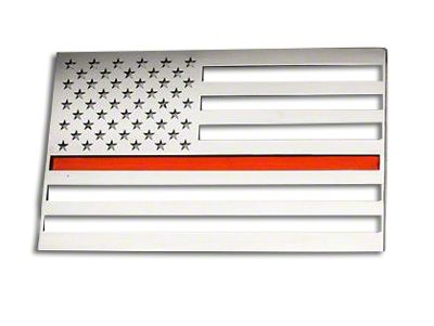ACC Stainless Steel American Flag Emblem - Polished w/ Thin Red Line (97-18 F-150)