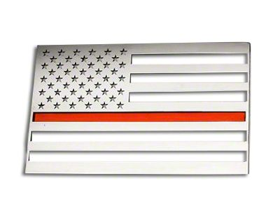 ACC Stainless Steel American Flag Emblem - Brushed w/ Thin Red Line (97-18 F-150)