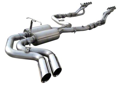 American Racing Headers 1-7/8 in. Long Tube Headers, Catted X-Pipe w/ Dual Exhaust System - Middle Side Exit (99-03 F-150 Lightning)