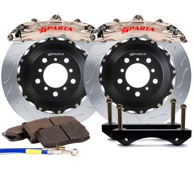 Sparta Evolution Triton Rear Big Brake Kit - Nickel Alloy (17-19 F-150 Raptor)