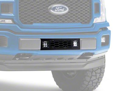 T-REX Revolver Series Lower Bumper Grille Insert w/ 3 in. LED Cube Lights - Black (18-19 F-150, Excluding Raptor)