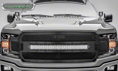 T-REX Stealth Torch Series Upper Replacement Grille w/ 30 in. LED Light Bar - Black (18-19 F-150, Excluding Raptor)